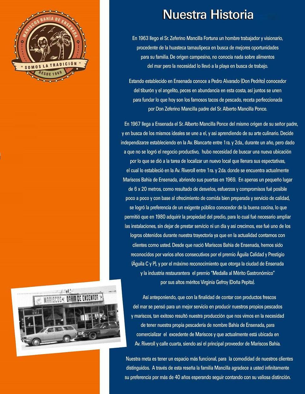 La historia verdadera de Restaurante Mariscos Bahía de Ensenada.