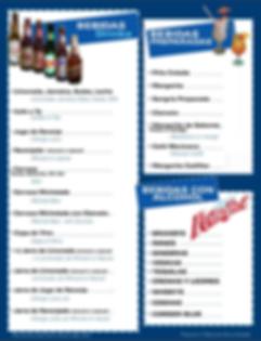 Mariscos Bahía de Ensenada ofrece bebidas embotelladas, preparadas y licores.