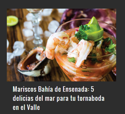 TU TORNABODA CON MARISCOS BAHÍA DE ENSENADA