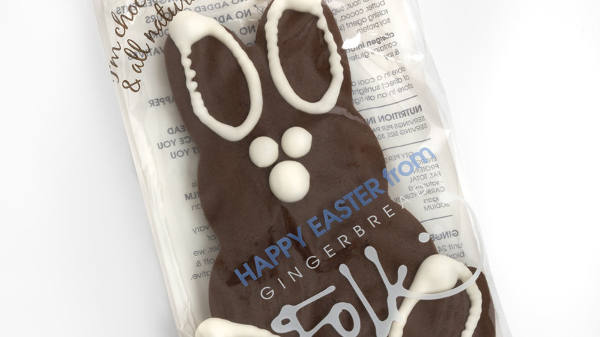 Choc Gingerbread Easter Bunny 30g