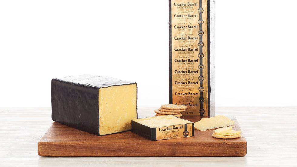 Warrnambool Cracker Barrel Gold Vintage Cheddar Black Wax