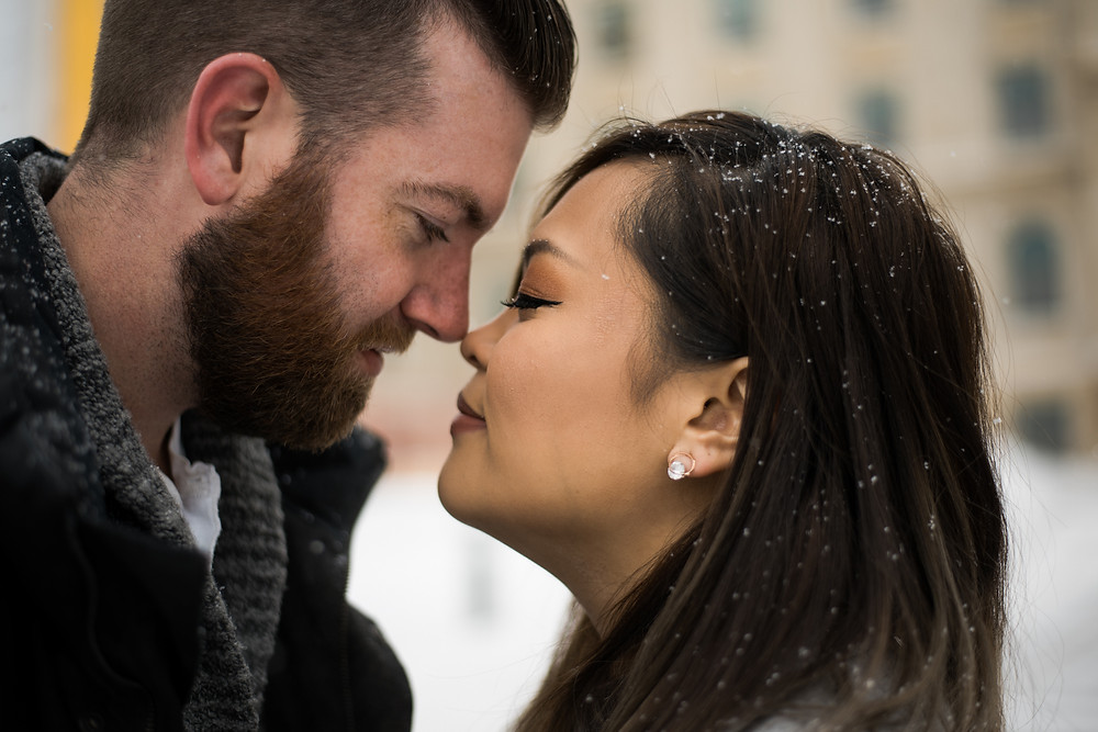 Edmonton winter engagement