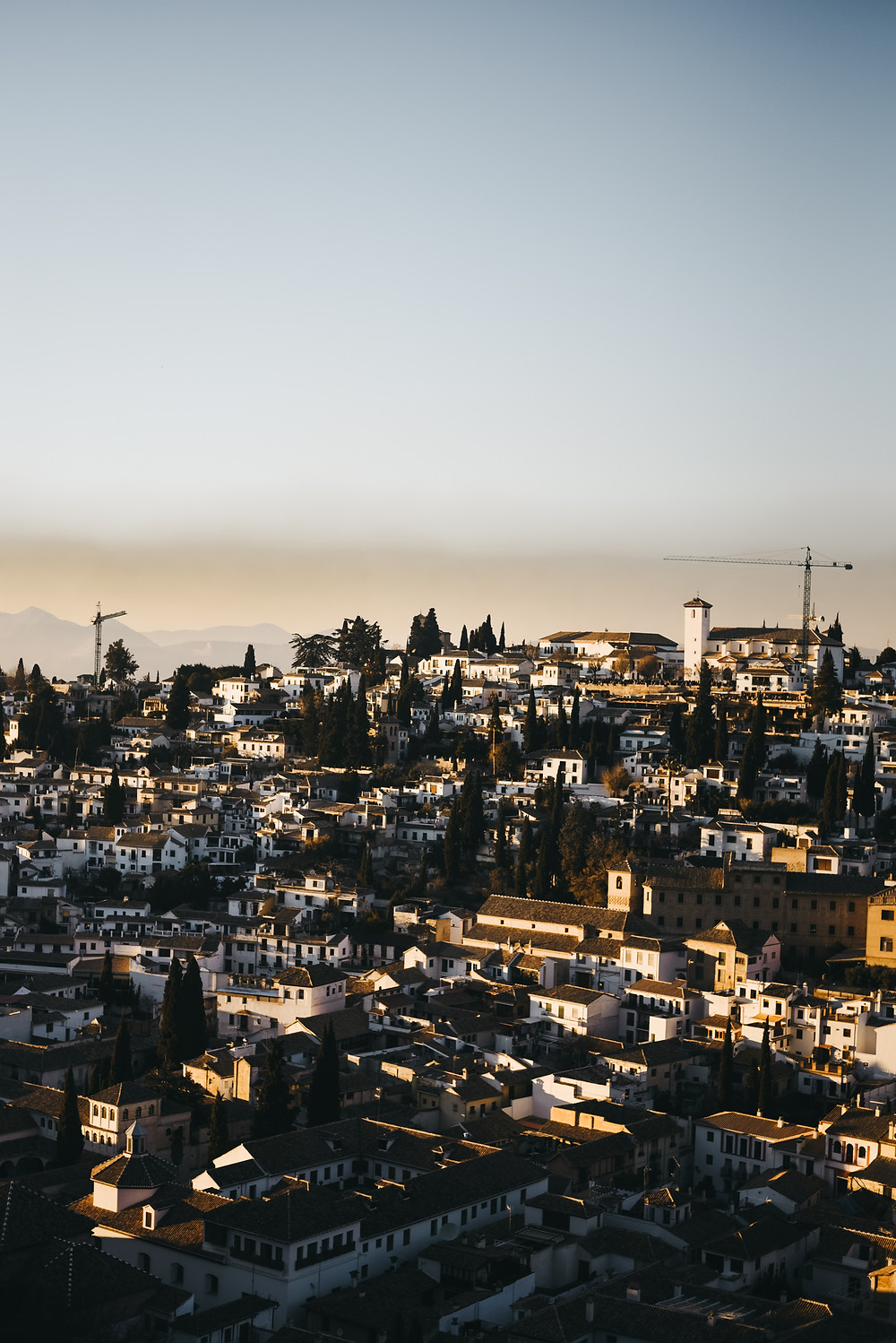 Granada at Sunset, Spain, view from Alhambra Palace