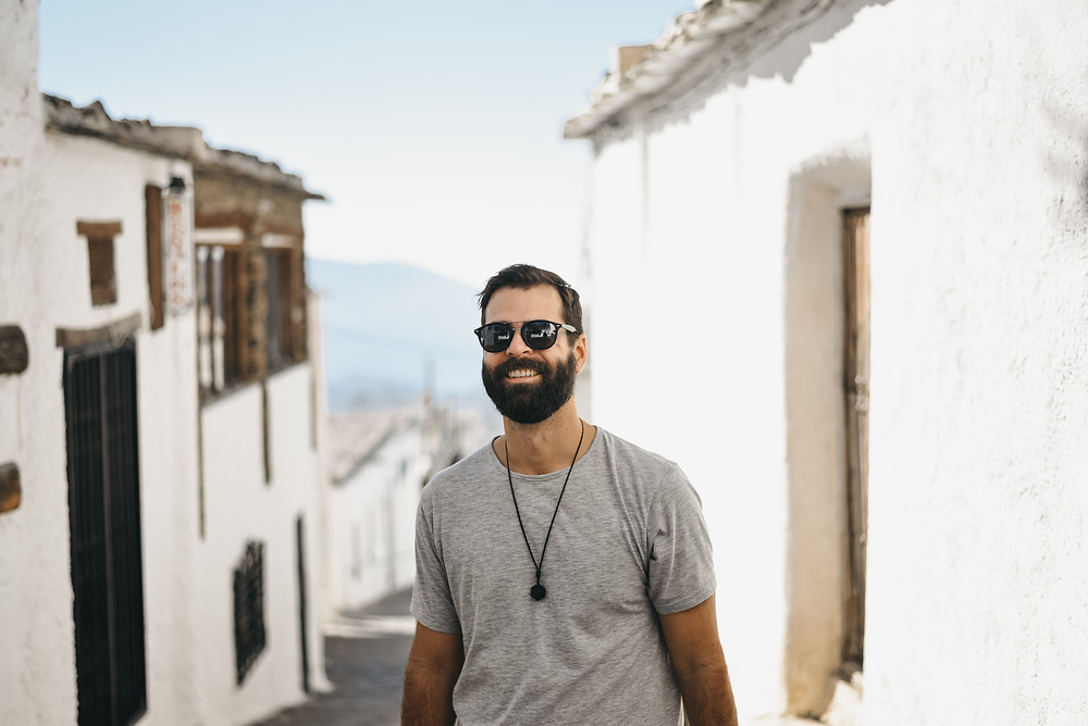 Bubion, Spain, Andalucia Mountain, Sierra Nevada, Male lifestyle shoot