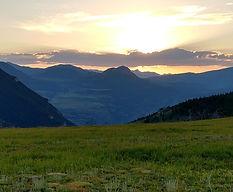 Mountain sunset by Dennis York