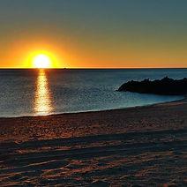 Beach sunset by Dennis York