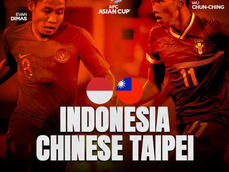 Indonesia lolos ke putaran 3 Kualifikasi Piala Asia 2023 setelah takklukan Chinese Taipei