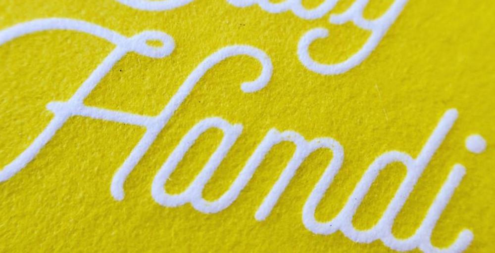 Letterpress Baby Invitations