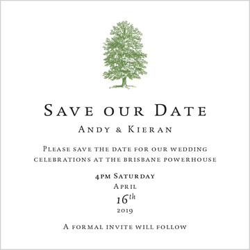 Andy and Kieran Save the Date