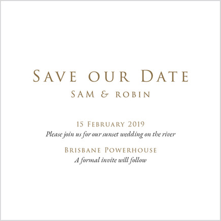Sam and Robin Save our Date