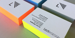 Fluoro Edge Painted Cards