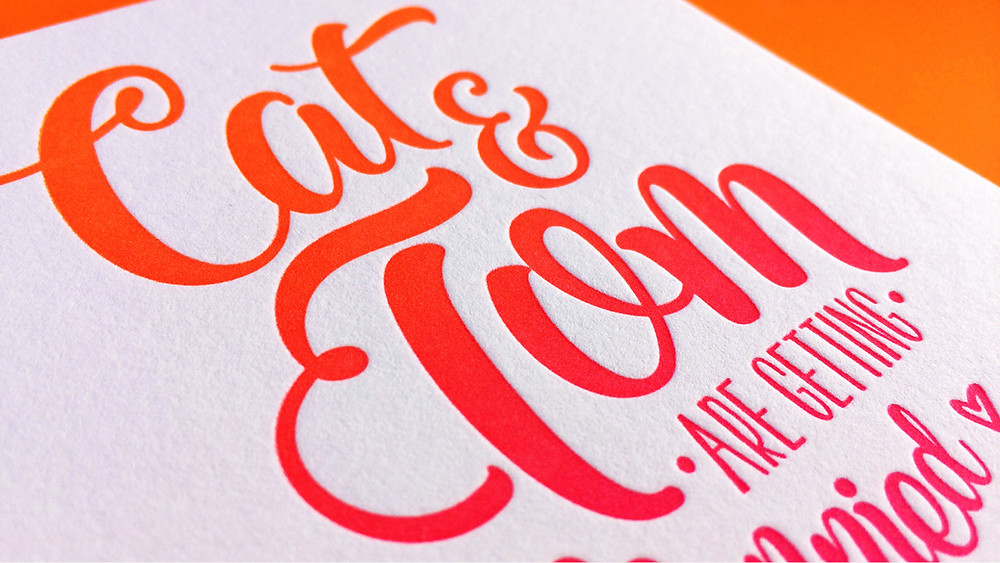 Fluoro Wedding Invitation