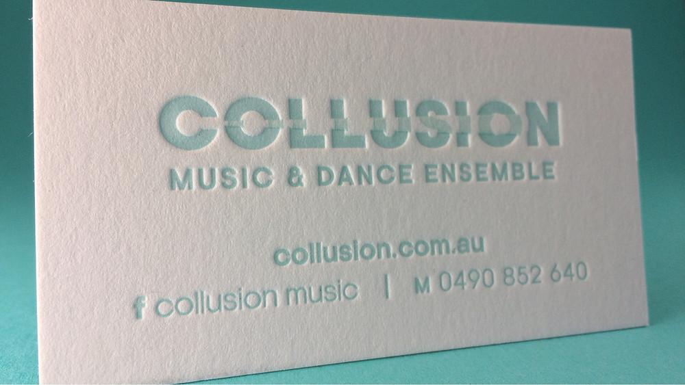 Collusion Letterpress Business Card