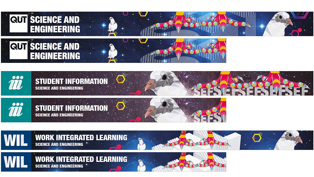Stumpy the Pigeon QUT web banners