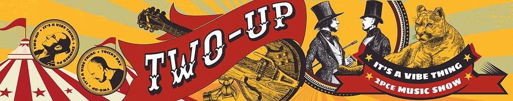 Two-Up social media banner design