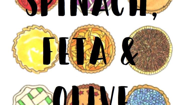 Spinach, Feta & Olive Family Quiche
