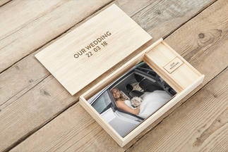 An image of a wedding photography storage box.
