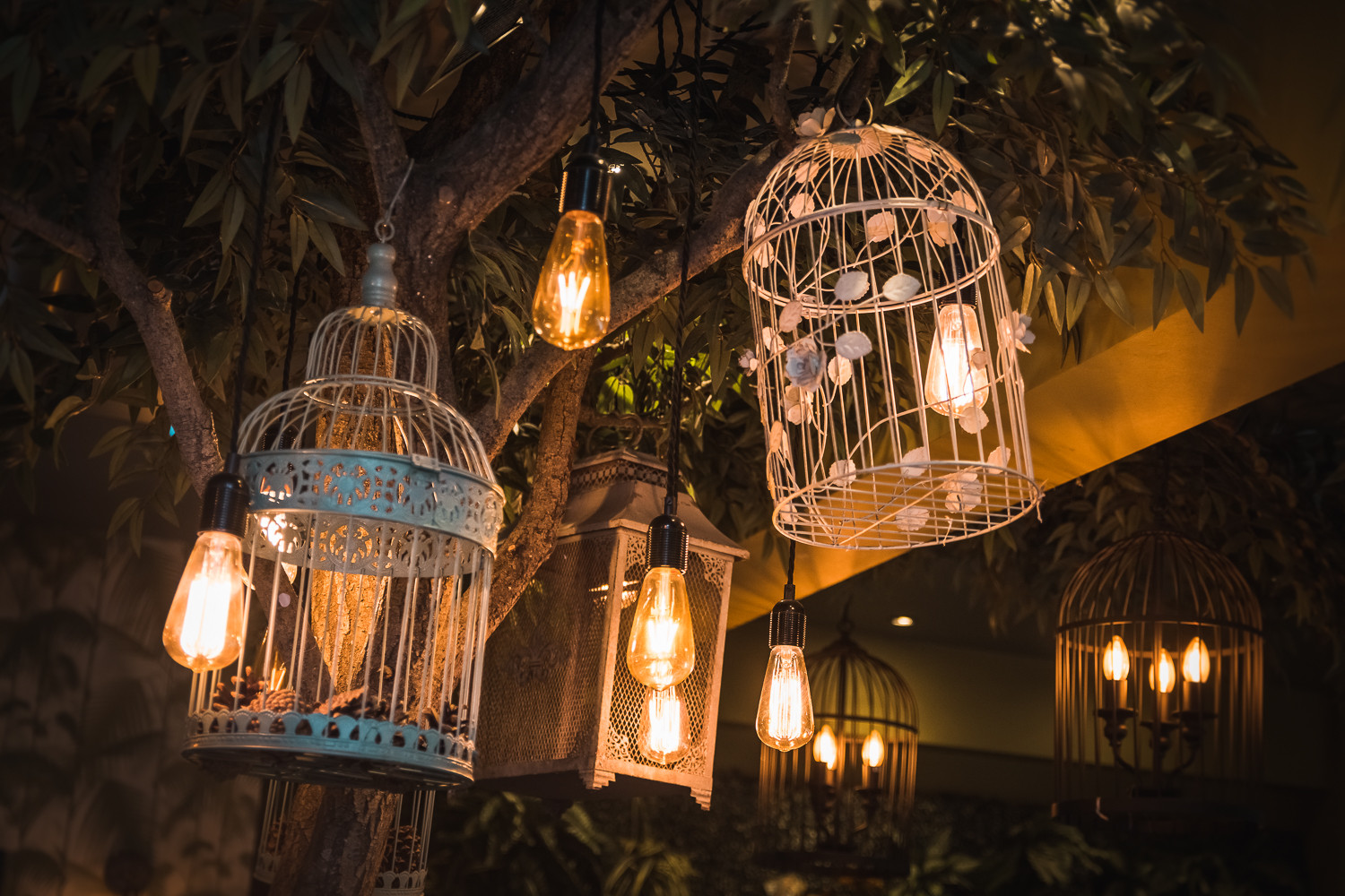 Decorations at a wedding reception in The Potting Shed, Beverley.