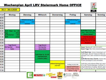 LRV Wochenplan April Home Office Training