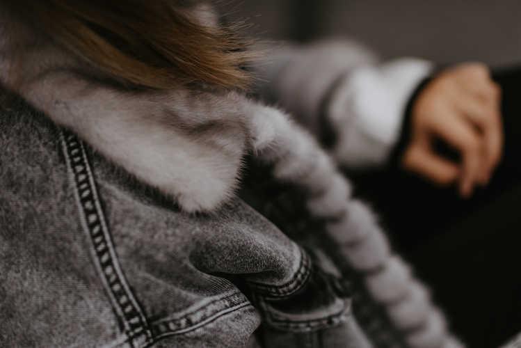 Джинсовая куртка на норке