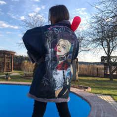 """Джинсовая куртка с ручной росписью """"ХАРЛИ-КВИН"""""""