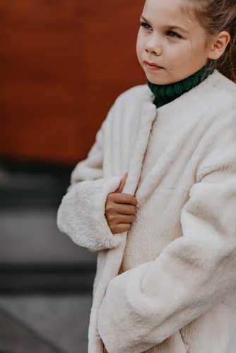 Пальто из стриженного бобра