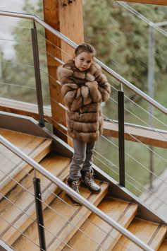 Пальто из лесной куницы