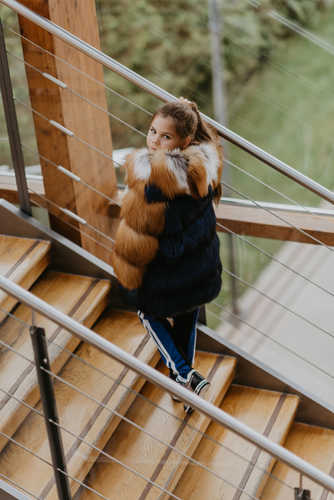 Пальто из лисицы