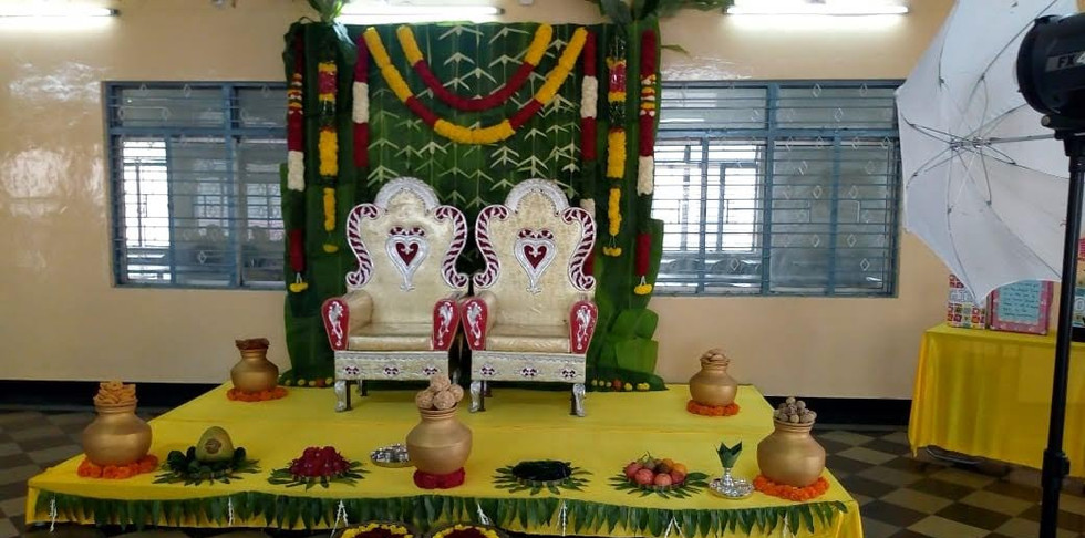 Traditional Banana Leaf Flower Decoration Price In Bangalore For Baby Shower.