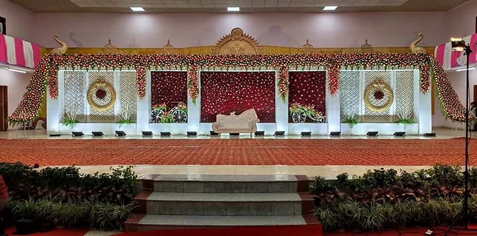 Traditional Marriage Stage Flower Decoration Price In Bangalore.