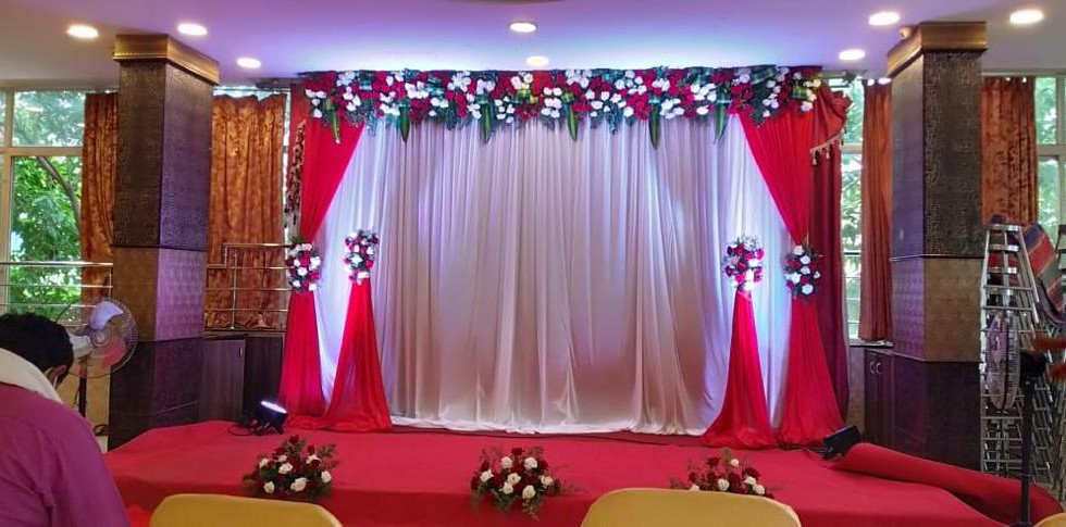 Red Colour Engagement Flower Decoration Price IN Bangalore.JPG