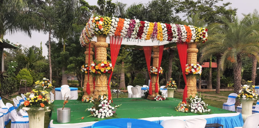 Traditional Marriage Mantapa Flower Decoration Price In Bangalore.