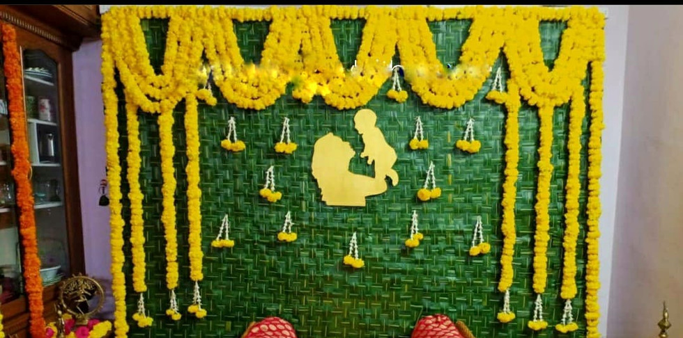 Traditional Banana Leaf Flower Decoration For Baby Shower With Price In Bangalore.