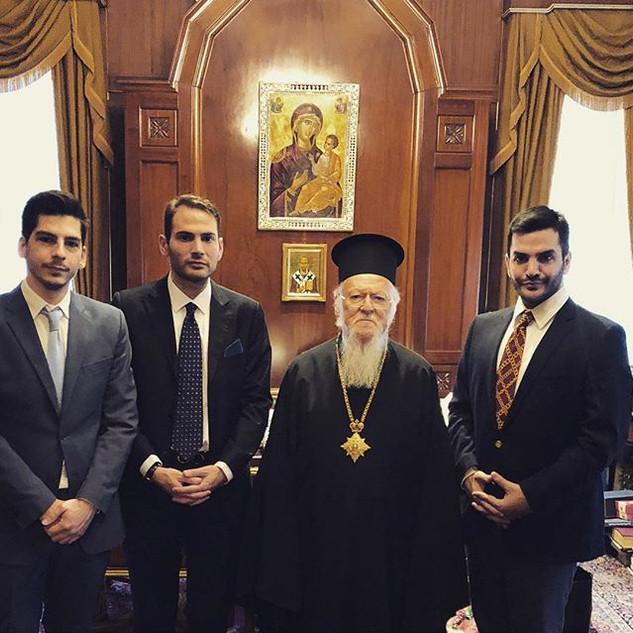 Επίσημη συνάντηση με τον Οικουμενικό Πατ