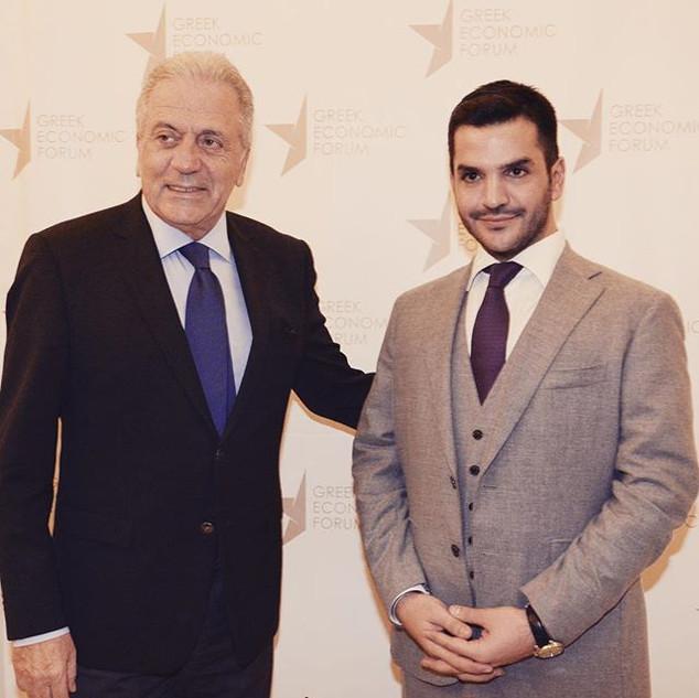 Με τον Ευρωπαίο Επίτροπο Δημήτρη Αβραμόπ
