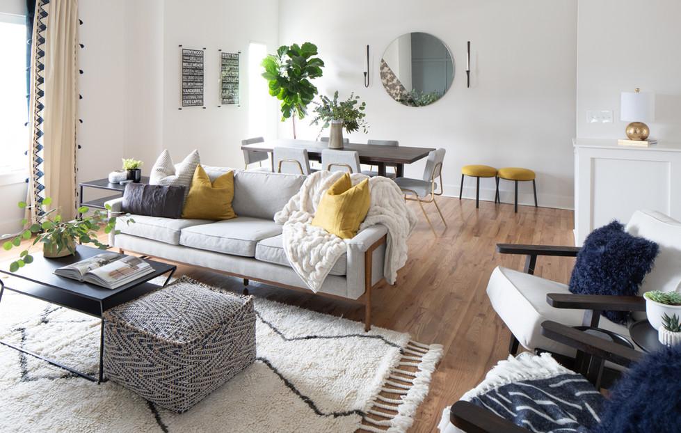 Trendy Trinhberlake Living Room and Dining Room Design