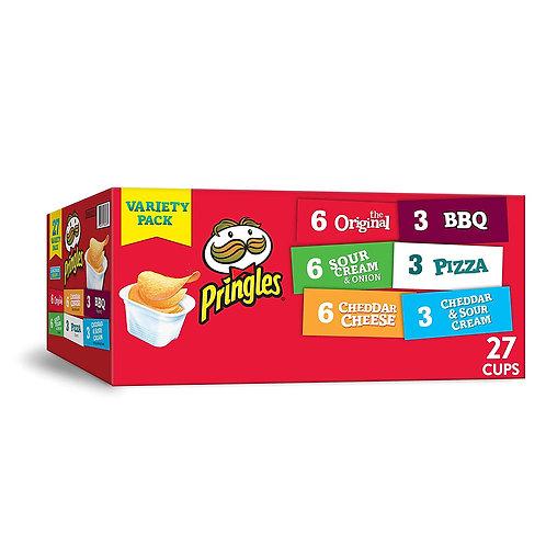 Pringles Snack Stacks Potato Crisps Chips, Flavored Variety Pack, Original, Sou