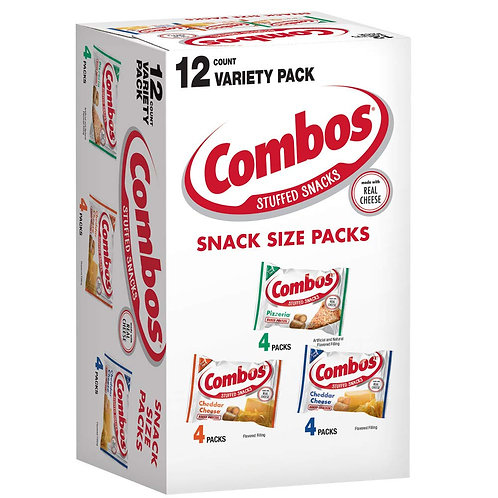Roll over image to zoom in Combos Variety Pack Fun Size Baked Snacks 0.93-ounce