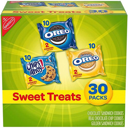 Nabisco Sweet Treats Cookie Variety Pack OREO, OREO Golden & CHIPS AHOY!, 30 Sna