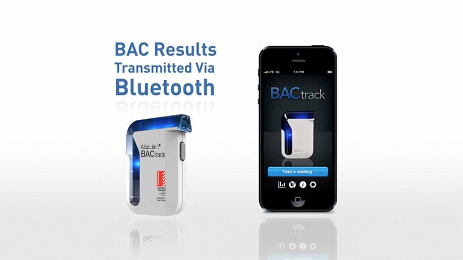 Bluetooth transmit BACtrack Smartpho
