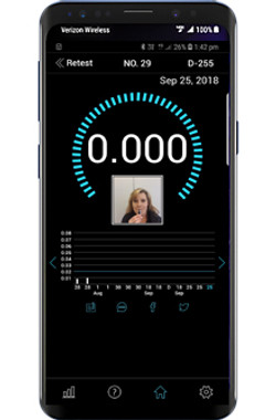 Smartphone breathalyser with app