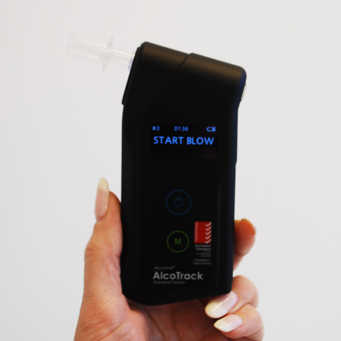 AlcoTrack Start Display