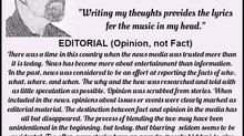 Editorial (Opinion, not Fact)