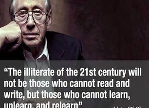 The Illiterate of the 21st Century