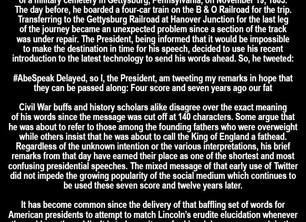 The Gettysburg Tweet