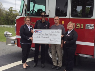 Petty Family Foundation Gives Back to Fire Department