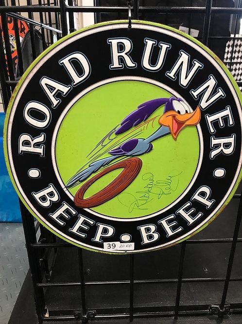 Beep Beep Road Runner metal sign