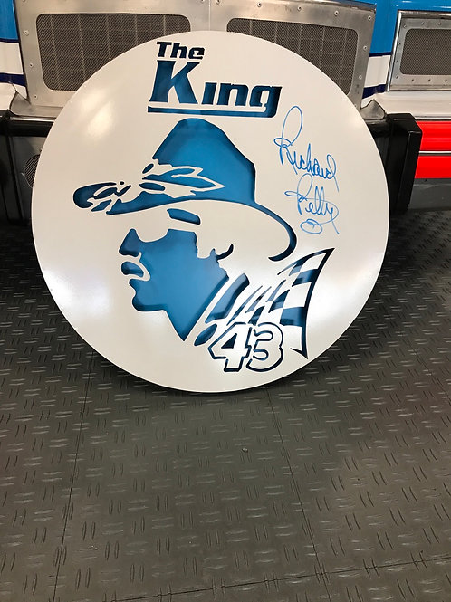 The King 43 Metal Sign 3 D