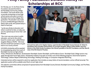 Petty Family Foundations Scholarships at RCC