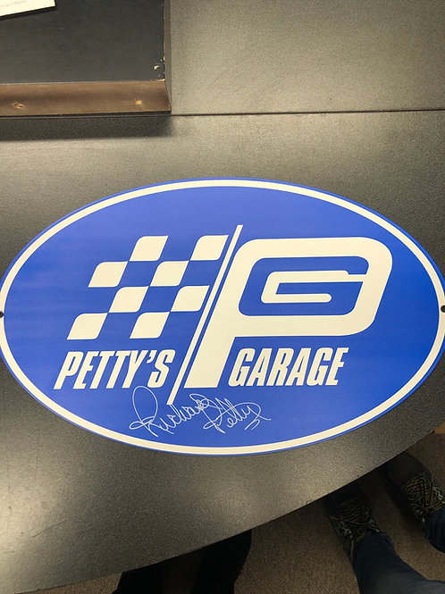 Petty's Garage Sign